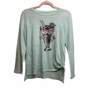 Epic Threads Girl's Long Sleeve Side Tie Shirt